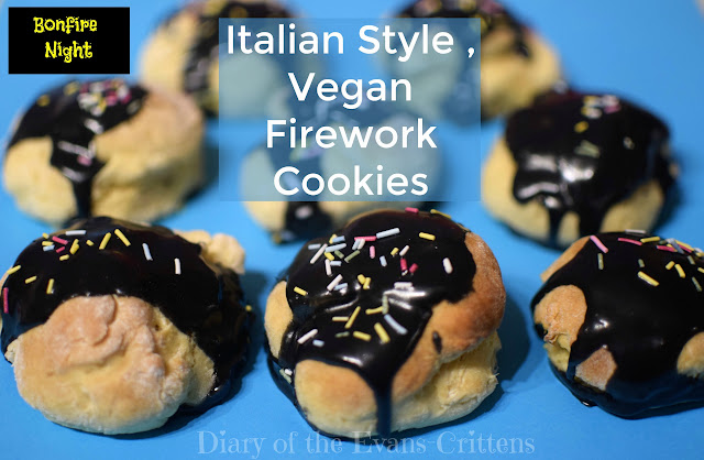 Italian Cookies, Firework Cookies, Firework Biscuits, Bonfire Night Food, Vegan Cookie, Italian Vegan Firework Cookies, recipe, food, baking, vegan, Italian, firework, Bonfire Night, Guy Fawkes Night,