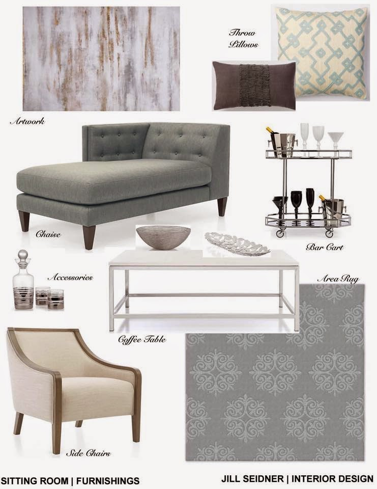 La Vernia TX Online Design Project Sitting Room Furnishings Concept Board