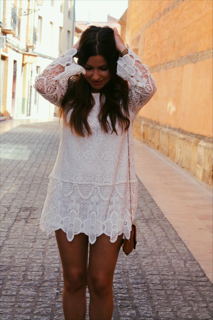 outfit vestido blanco verano blog