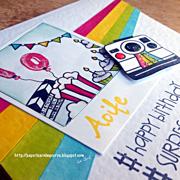 Grá O'Neill - Paper Learning Curve - Paper Smooches We Totally click, Good Gab, Sentiment Sampler, Polaroid Dies, Lawn Fawn Birthday Tags, Mama Elephant Balloon Et Cetera.