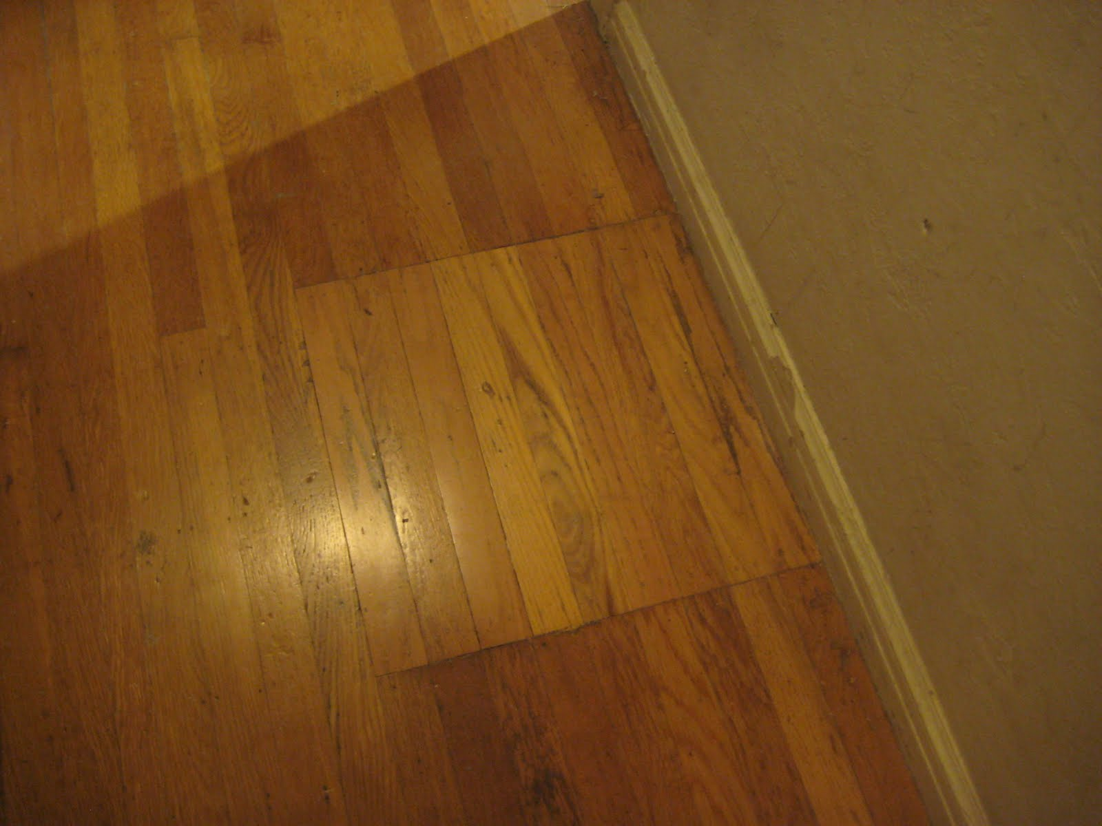 So We Made Marks On The Floor For Where Hardwoods Would Be Cut Out To