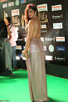 Telugu Actress Aarthi in Deep Neck Backless Golden Gown at IIFA Utsavam Awards 2017 Exclusive 13.JPG