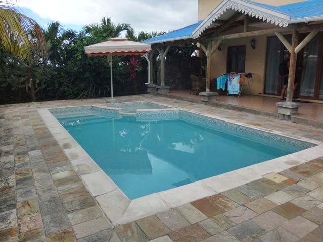 Nuestra piscina privada en Orchid Villas