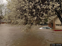 A car lies submerged in the Tall Timbers subdivision after flooding near Shreveport, La., on March 9, 2016, caused by torrential rains. (Credit: REUTERS/Deputy Josh Cagle/Bossier Parish Sheriff's Office via Reuters) Click to Enlarge.