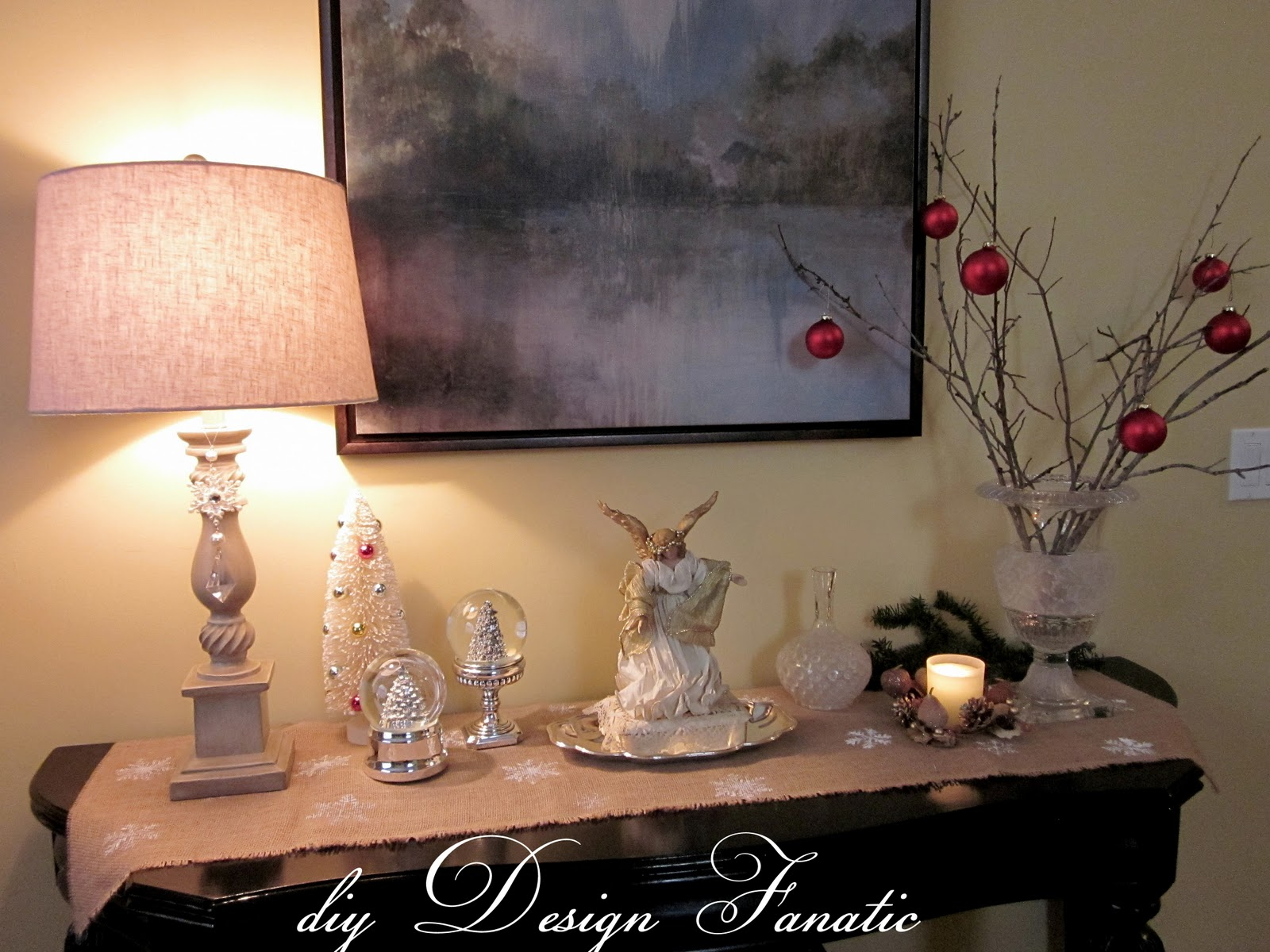 christmas tabletop - Christmas Decorations For Sofa Table