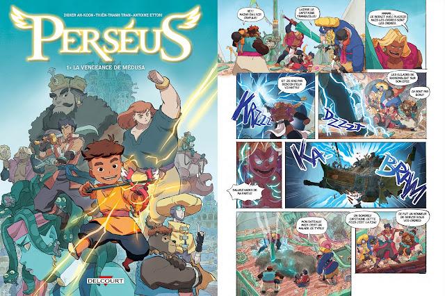 bande dessinée Perséus Delcourt Jeunesse Mythologie BD
