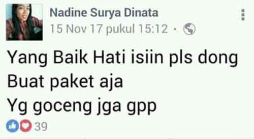 Inilah Nadine Surya Dinata, Cewek Yang Gak Betah di Indonesia dan Ingin Pindah ke Jakarta