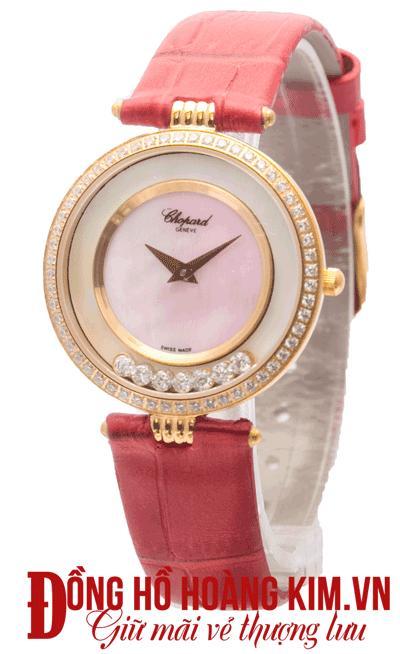 đồng hồ chopard nữ dây da thời trang