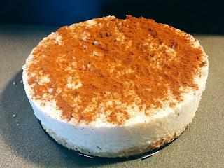 tarta fría de arroz con leche