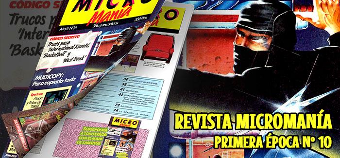 Revista Micromanía Primera época Número 10 1986