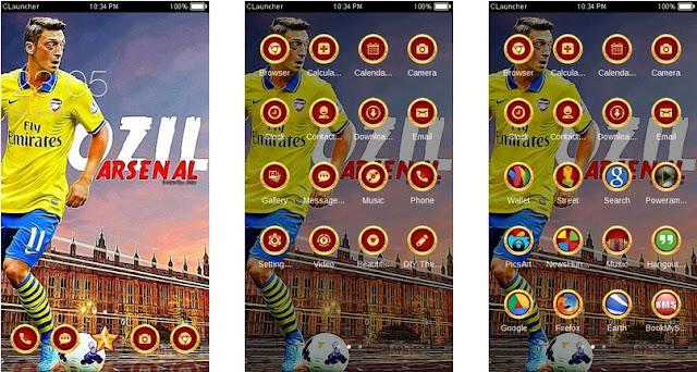 Download Tema Arsenal untuk Hp Android Apk - Mesut Ozil
