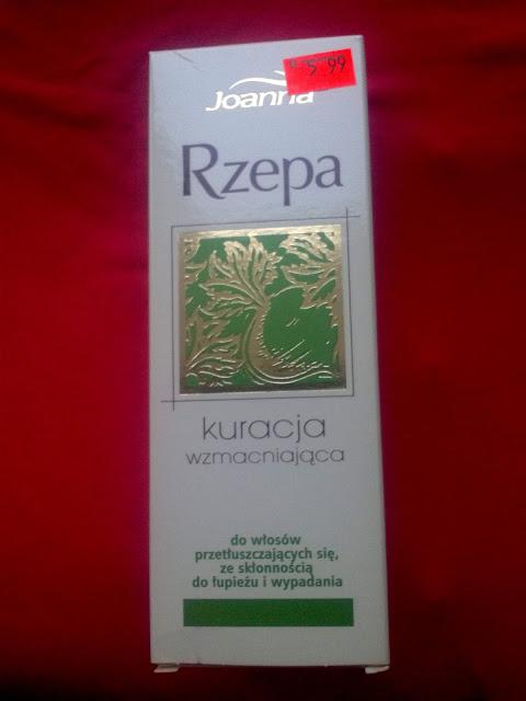 Joanna, Rzepa - kuracja wzmacniająca do włosów.