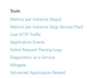 Diagnose and solve problems - app service - azure