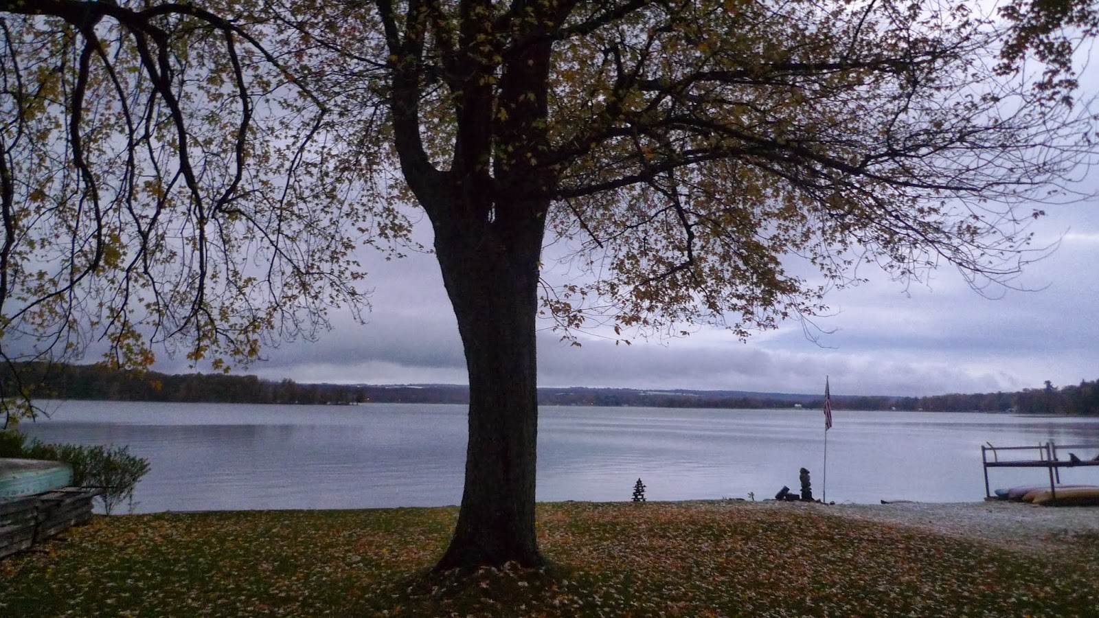Early Rising On Chautauqua Lake Dusting Of Snow Up On