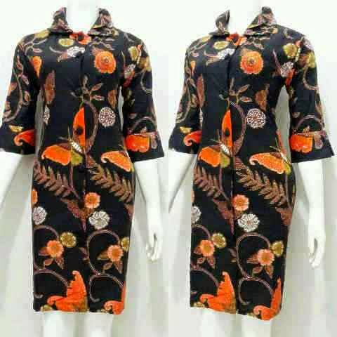 Model Terbaru Baju Mini Dress Batik Wanita Remaja