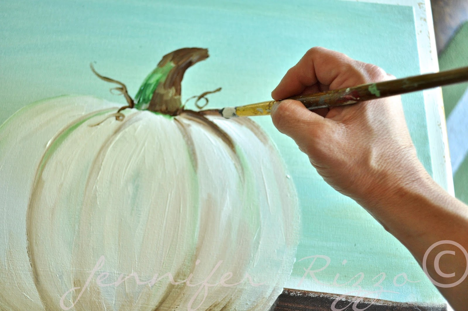 How To Paint A Pumpkin Canvas Art Skills Not Requiredshading The