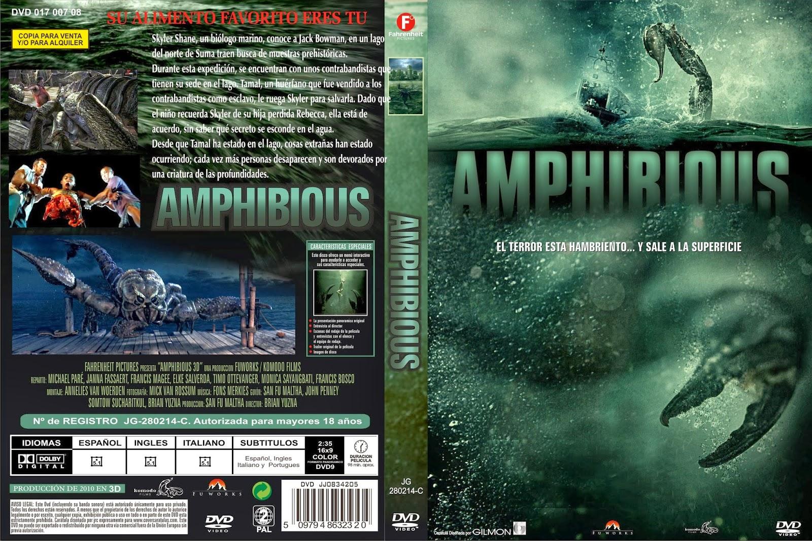 Amphibious Pelicula amphibious 3d dvd cover - coverdvdgratis