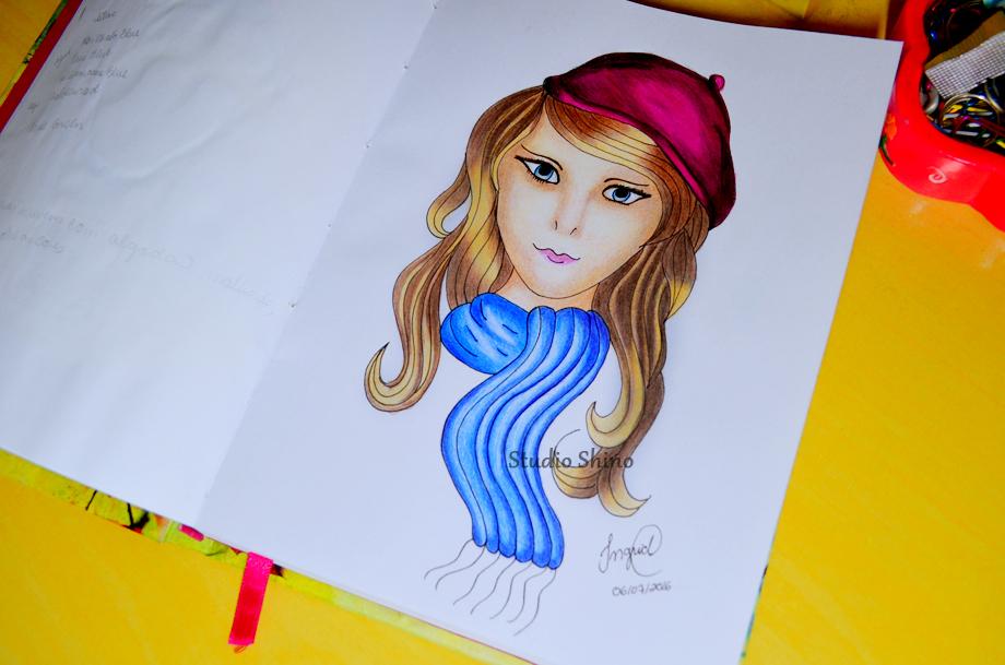 Ilustração feita com lápis de cor