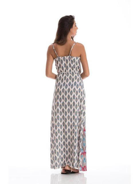 Moda Vestido Wrap longo de crepe tricot