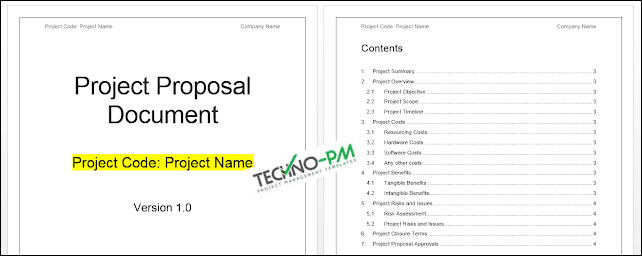 Project Proposal Template Word Template - Project Management