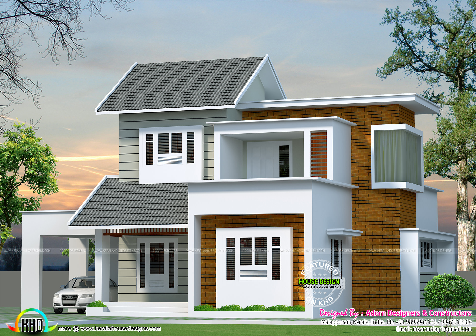 October 2016 kerala home design and floor plans for Simple contemporary house