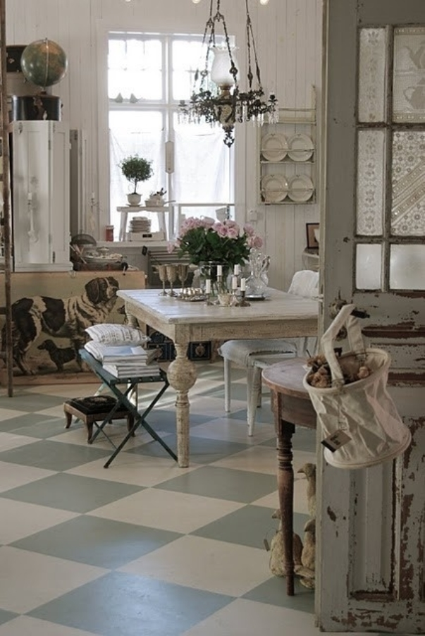 This cheap vintage shabby chic style kitchen design and - Shabby chic modern kitchen ...