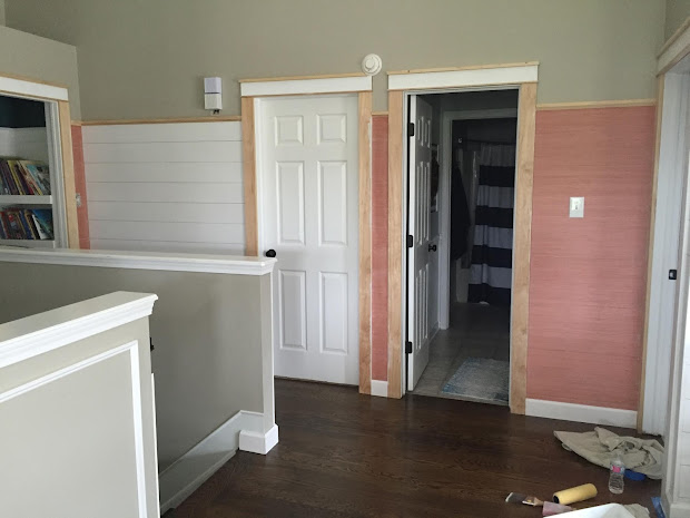 Finished Shiplap Walls And Farmhouse Door Trim In Loft