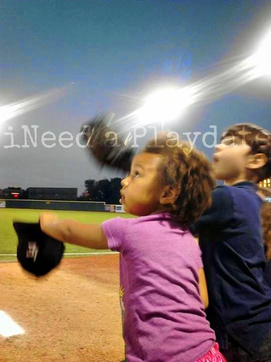 Kids trying to catch a ball at a @LECrushers Game | @MryJhnsn