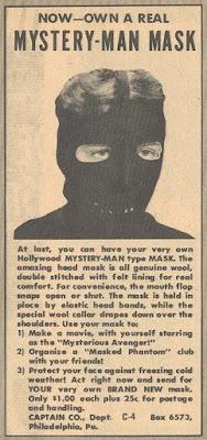 Now - Own a real Mystery-Man Mask