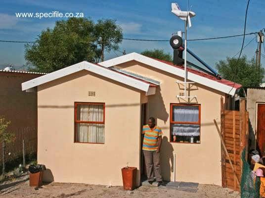 Casa de material de concreto de bajo costo en Sudáfrica