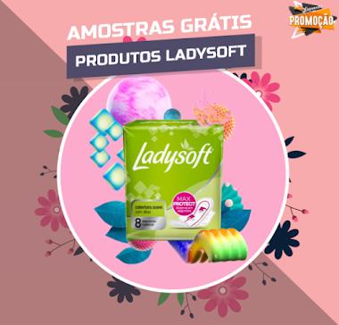 Amostras Grátis - Absorventes da linha Ladysoft e Necessaire