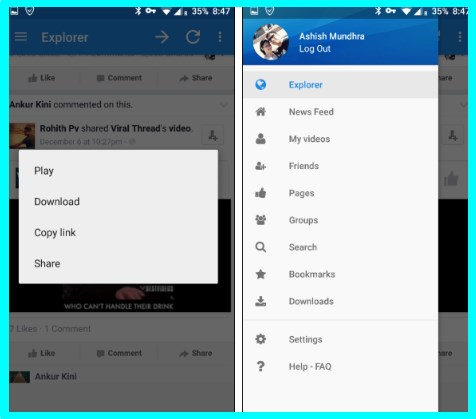 how to download video from facebook on android device