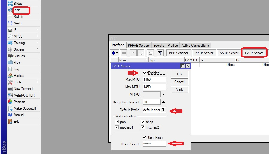 Very easy way to configure Mikrotik L2tp VPN for remote clients