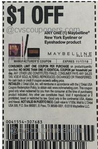 Maybelline coupon insert coupon