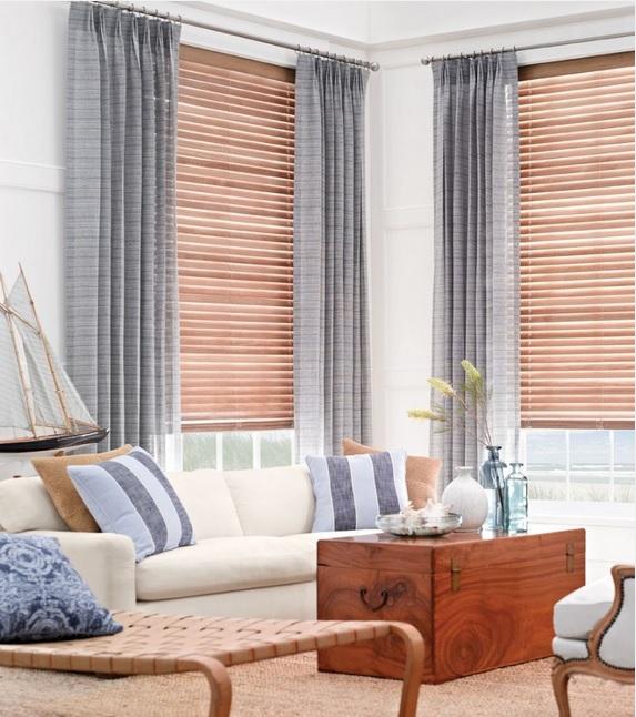 Se llama estilo elegir las cortinas perfectas for Persianas madera