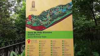 Mapa Zona Silvestre del Parque Histórico de Guayaquil