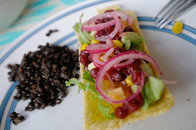 vegetarisk taco med linser