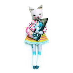ShopMissElla - Cat doll and hedgehog on Etsy