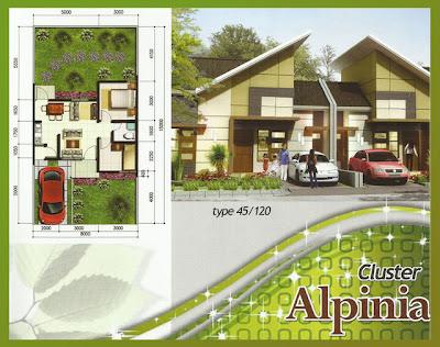Desain rumah mungil seperti rumah tipe  Denah Rumah Type 45/120