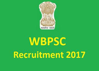 WBPSC Recruitment 2017