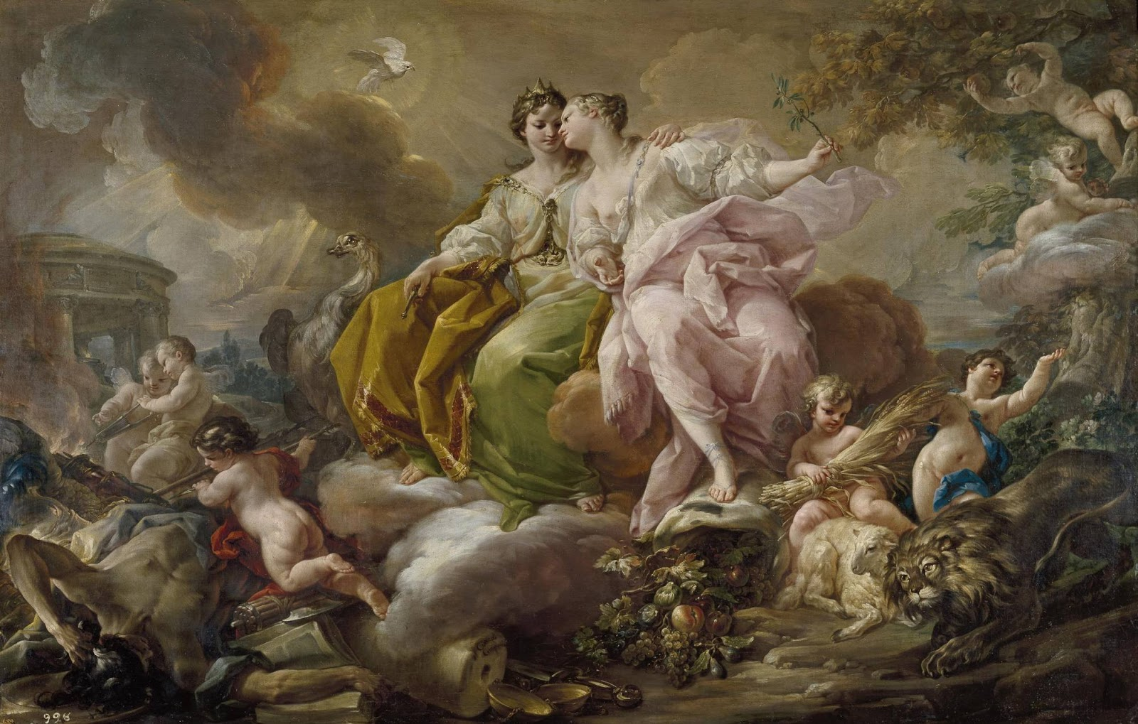 Spencer Alley Rococo Painting In Italy - Rococo painting