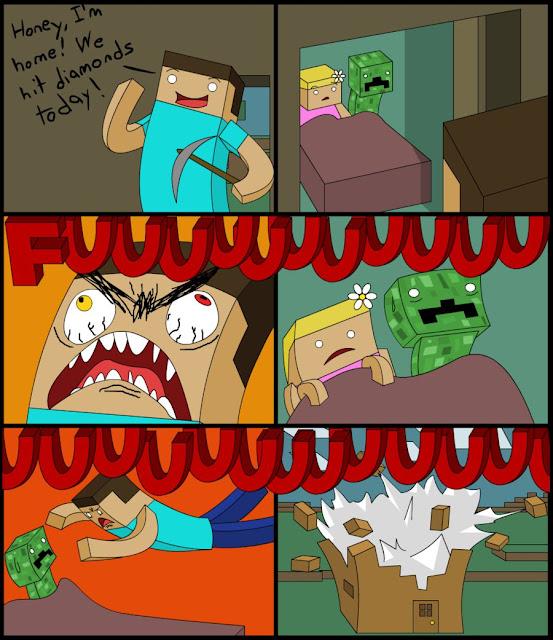comic steve minecraft