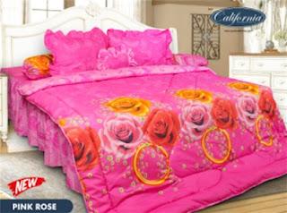 Sprei motif Pink Rose