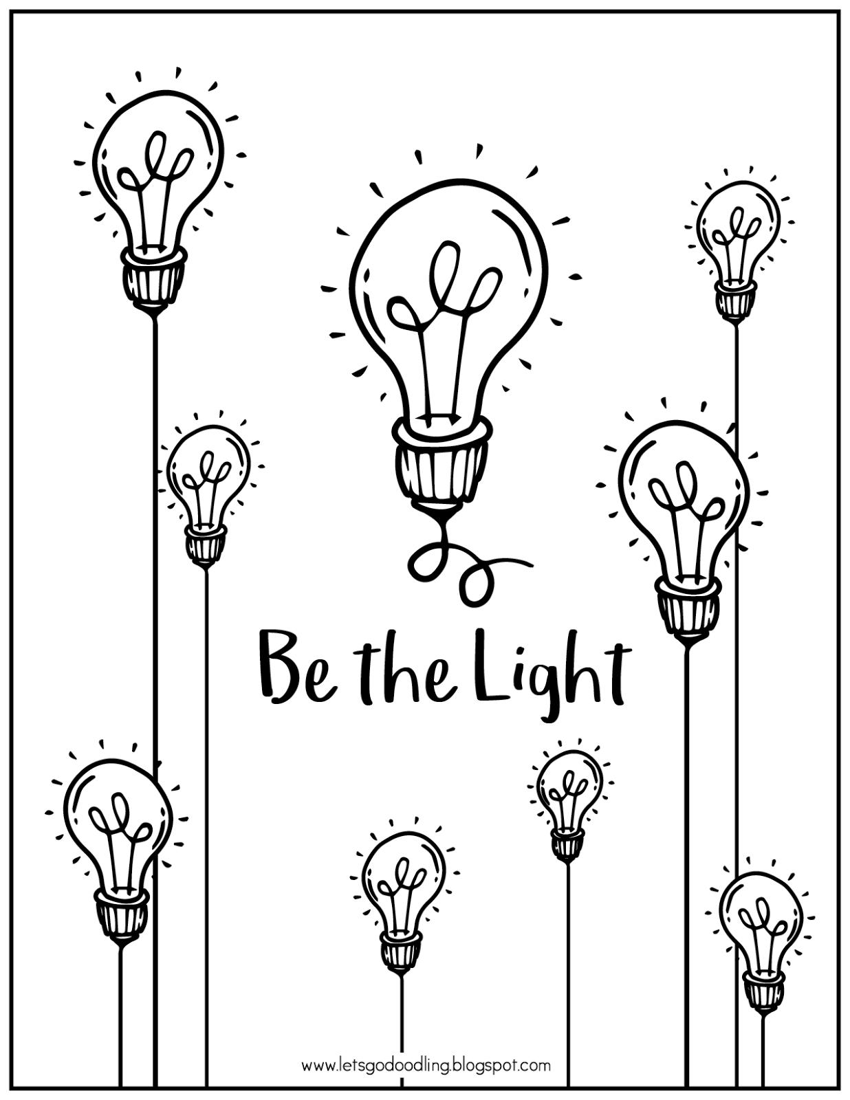 24+ Light Bulb Coloring Page Free Printable