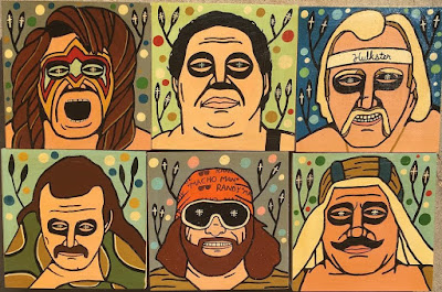 WWE Painting Series by Mike Egan