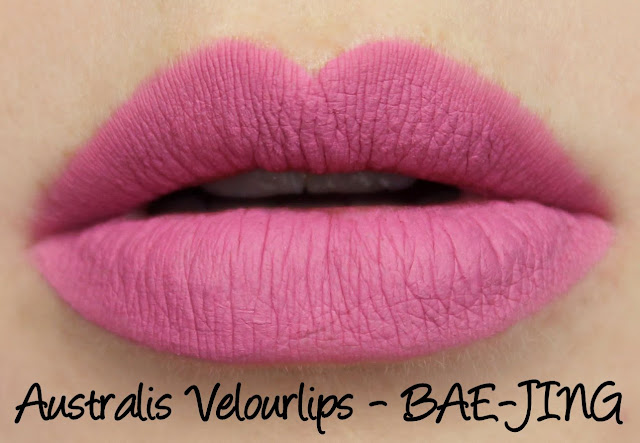 Australis Velourlips Matte Lip Cream - BAE-JING Swatches & Review + GIVEAWAY!