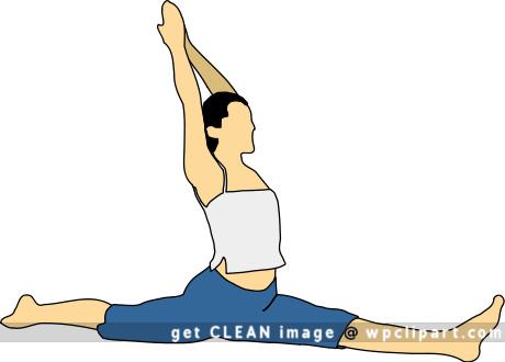 the elegant klutz hanumanasana or split pose