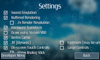 setting PPSSPP Android