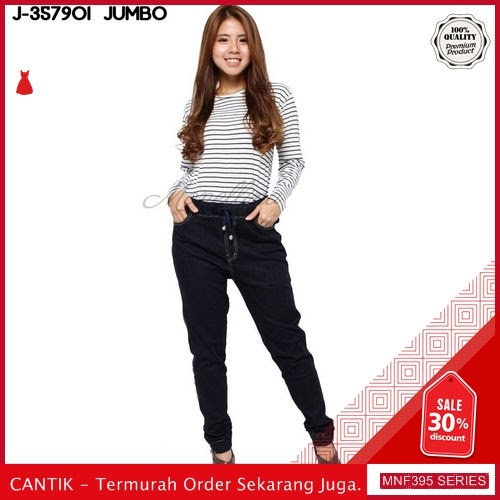 MNF395J80 Jeans 357901 Wanita Jumbo Xxl Jegging Denim 2019 BMGShop