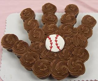 Baseball & Glove Cupcakes